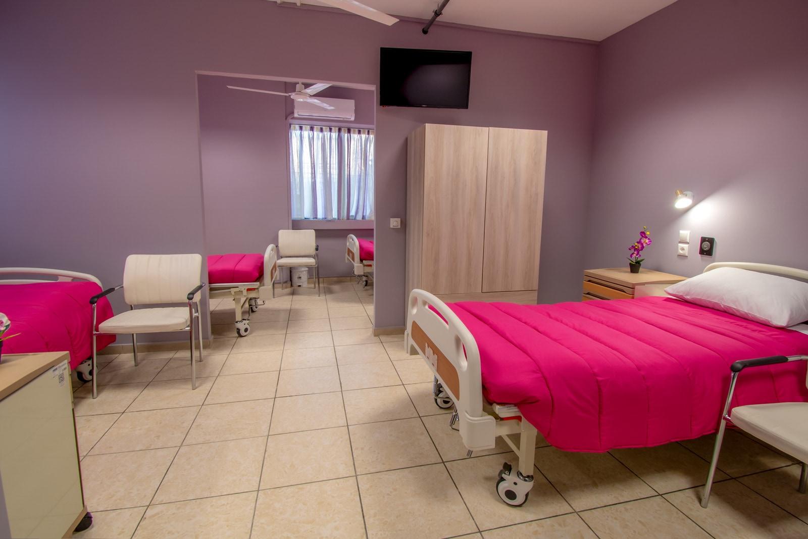 Μονάδα Φροντίδας Ηλικιωμένων Ίριδα Παγκράτι δωμάτια